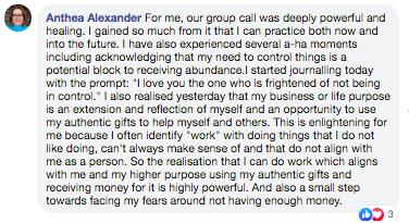 Anthea Alexander - Business Coach Testimonial - 1