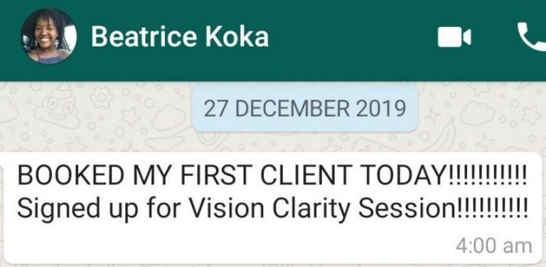 Beatrice Koka - Business Coach Testimonial - 2