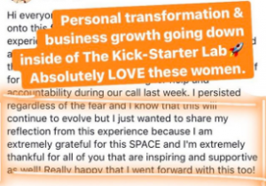 Carly Taber - Business Coach Testimonial